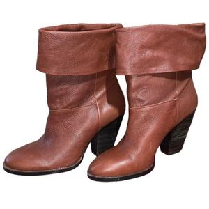 Vince Camuto fold over booties
